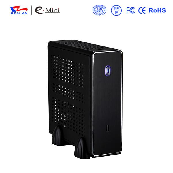 REALAN MINI ITX HTPC STEEL CASE E-C3 SGCC 0.8mm MINI-ITX M/B (1*USB2.0;1* COM;1* WIFI;4*4010FAN; BLACK AND SILVER free shipping(China (Mainland))