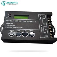LED Zeit Dimmer RGB Controller TC420 DC12V/24 V 5 Kanal Gesamtleistung 20A Gemeinsame Anode Programmierbare Kostenloser Versand(China (Mainland))