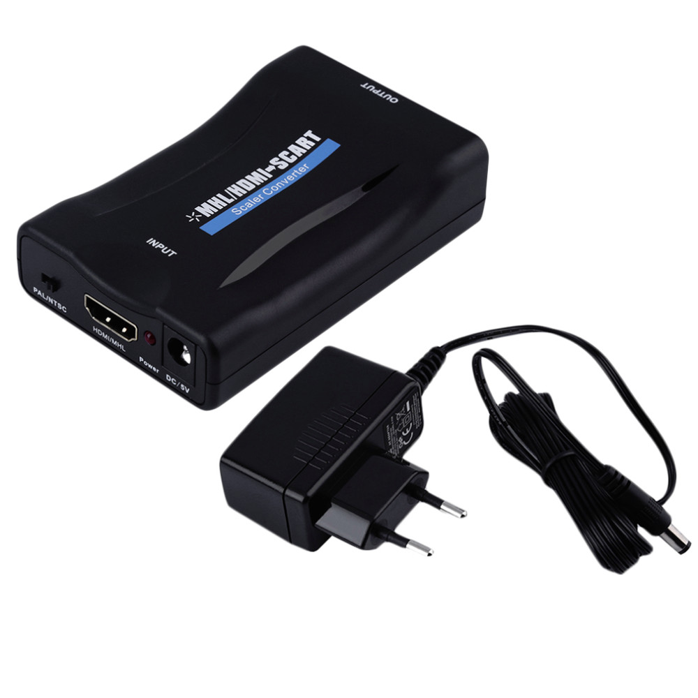 YHX HDV-60S Mini MHL/HDMI to SCART Video Converter Scaler for TV Smartphone EU