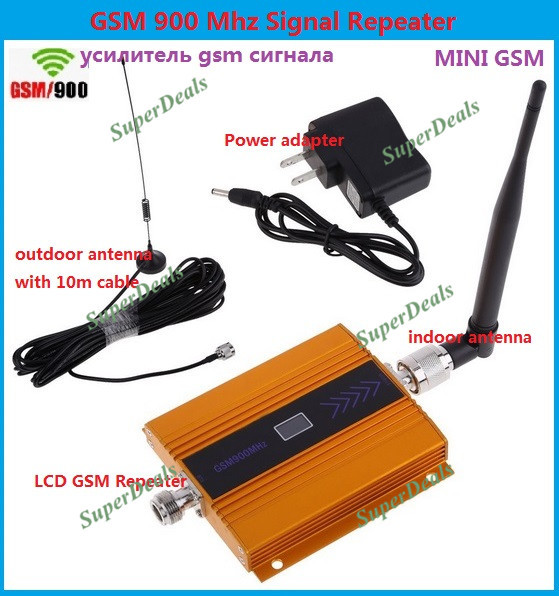 2015 NEW LCD 3G GSM 900Mhz Mobile Phone Signal Booster , GSM Signal Repeater / Booster, power charger With Cable + Antenna 1 SET(China (Mainland))