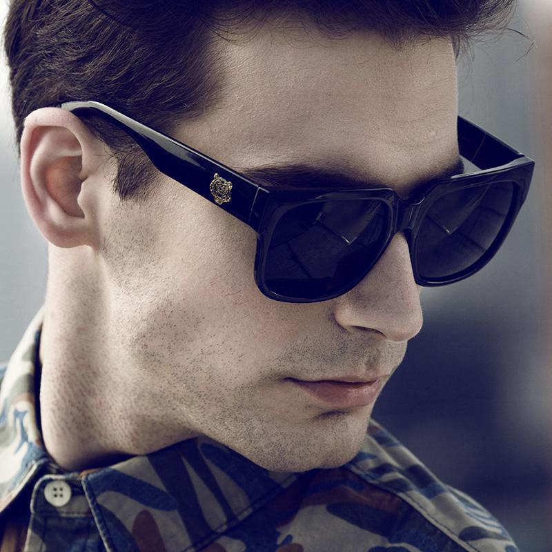 2015 Original Brand Sunglasses Men Glasses Fashion Shades Male Black Eyewear Coating Points sun Outdoor Sunglass