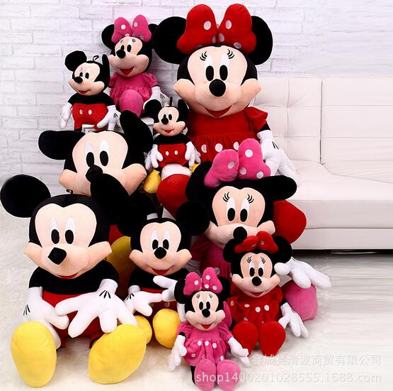 Mickey AND Minnie Happy couple doll Children Stuffed Toy kids doll plush toy baby toys birthday gift(China (Mainland))