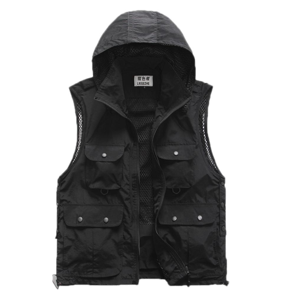 2015 New Brand Summer Mesh Fishing Vest Sleeveless Jacket Denim Vest Men Outdoor Hiking Vests Multifunctional Photographer VestsОдежда и ак�е��уары<br><br><br>Aliexpress