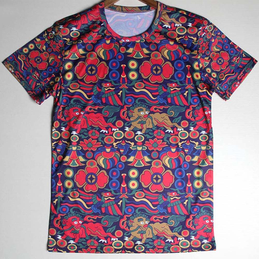 New Fashion American flag T Shirts Men Lion pattern 3d tshirt ManIndia ham pattern O Neck Mens T-Shirt Tops Tees Shirt(China (Mainland))