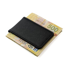 Friendship Gift Brand Genuine Leather Money Clip Purse Men Strong Magnetic High quality Black Clip for Money holder(China (Mainland))