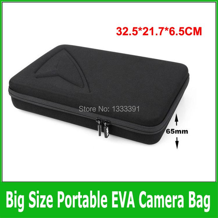 1pcs Size L Black GoPro Case Collection Box Shockproof Travel Protective EVA Storage Camera Bag For GoPro HD Hero3+/3/2/1 sj4000(China (Mainland))