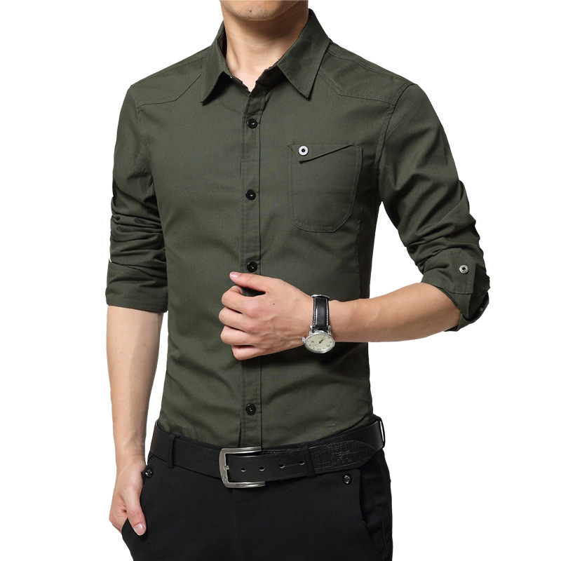 Green Button Up Shirt Mens Artee Shirt