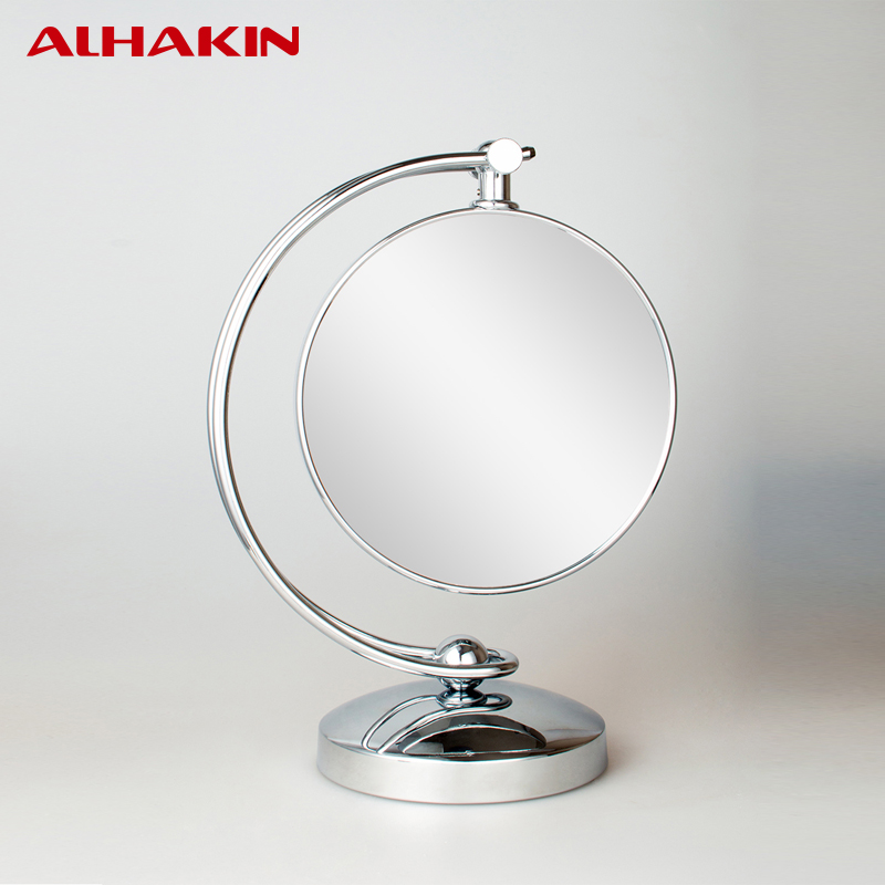 "ALHAKIN 8"" Double Sided Table-Top HD Mirror 1/3X Magnification Silver Table Chrome Finished Table Stand Mirror(China (Mainland))"