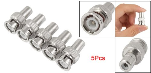 5 Pcs BNC Male Plug to RCA Female RF Coaxial Connector for CCTV Video Gift(China (Mainland))