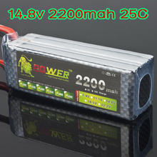 Lipo 4S Battery 14.8v 2200mah 25C Lipo battery Li poly For RC Car helicopter 6 channel align trex Akku Deans plug