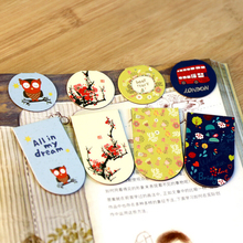 New Cute Kawaii Lovely Magnetic Bookmarks multi-functional paper Clips Creative Korean Stationery Free Shipping 740(China (Mainland))
