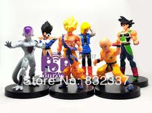 New Arrival Japanese Anime Cartoon Dragon Ball Z Action Figures Frieza/Goku/Vegeta Toys For Collection 6pcs/set Free Shipping