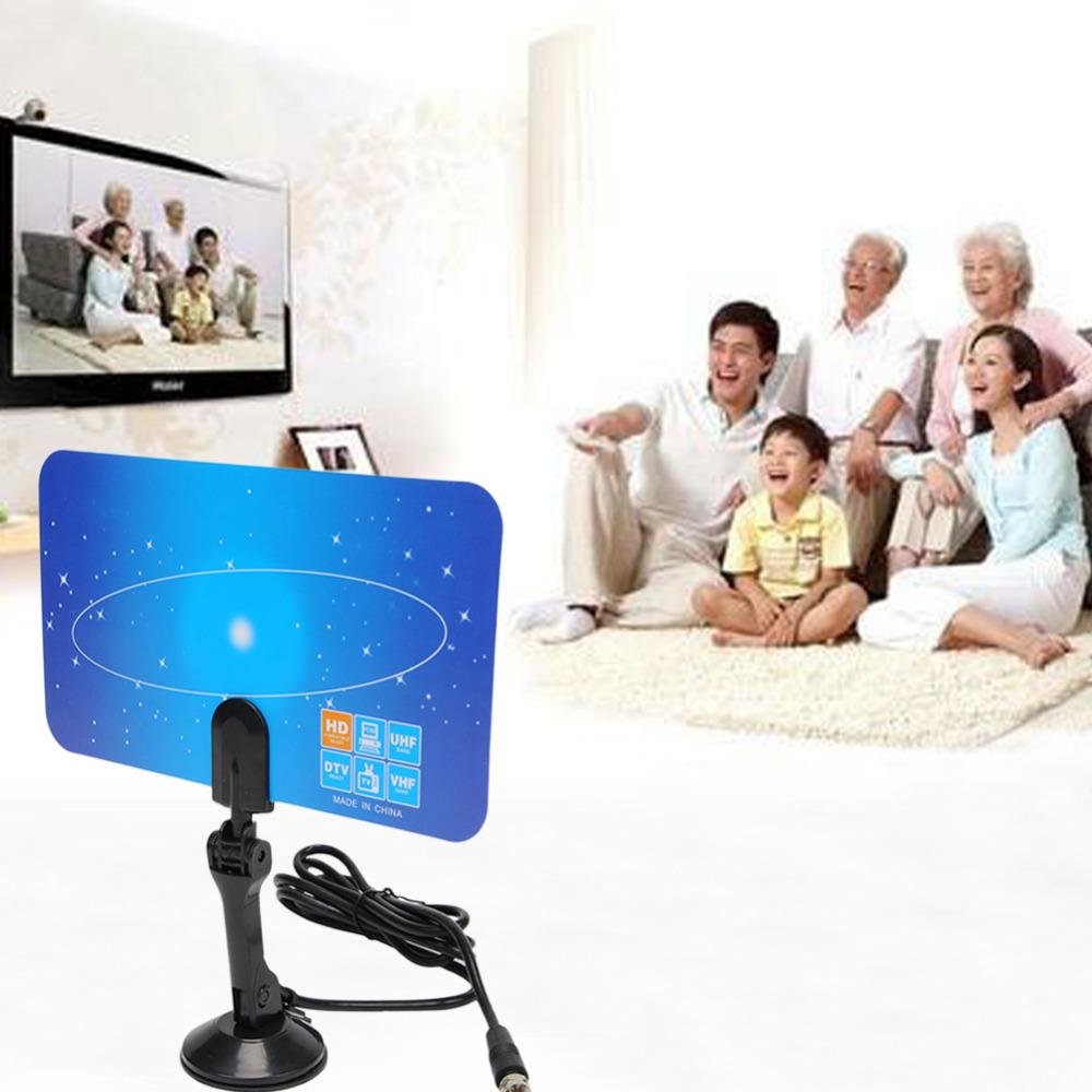High Definition Digital UHF/VHFPC TV Recieve Antenna Digital Indoor TV Antenna HDTV DTV Box Ready Linear HD UHF/VHF/FM Stereo(China (Mainland))