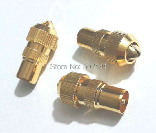 10pcs MALE TV AERIAL CONNECTOR - RF COAX CABLE PLUG FREEVIEW COAXIAL(China (Mainland))