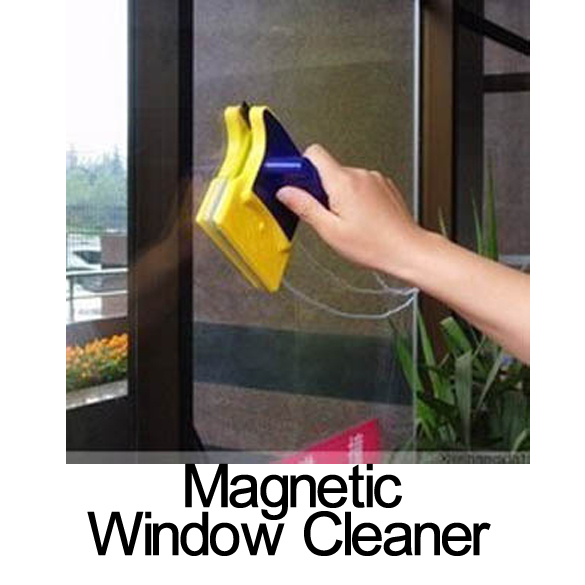 Useful Magnetic Window Cleaner Double Side Glass Wiper Useful Surface Brush V3NF(China (Mainland))
