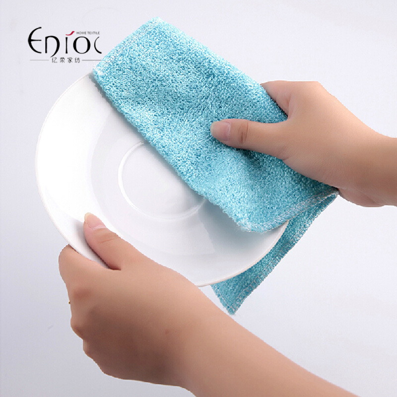 5PCS/lot Multi color magic bamboo fiber washing dish cleaning cloth scouring pad towels kitchen cleaning wipes rags TW-057