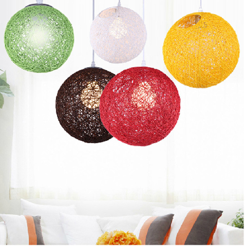 Big colorful linear ball pendant lamps hanging lights modern single Bar Restaurant dining room kids pendant suspension lighting<br><br>Aliexpress