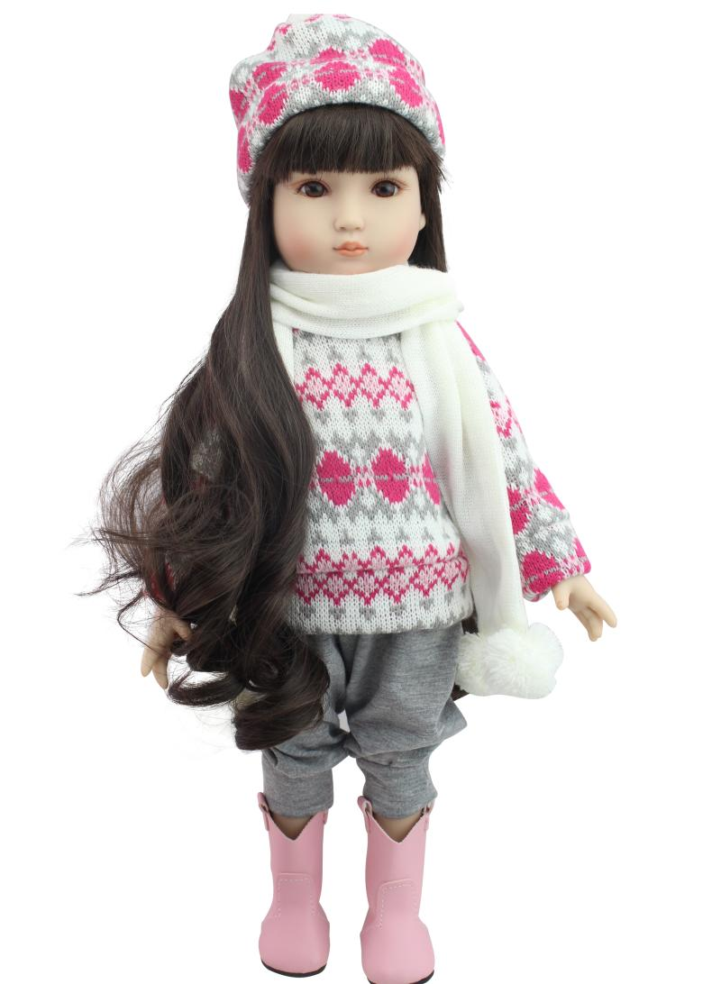 AMERICAN PRINCESS 45cm full Vinyl girl doll with clothes