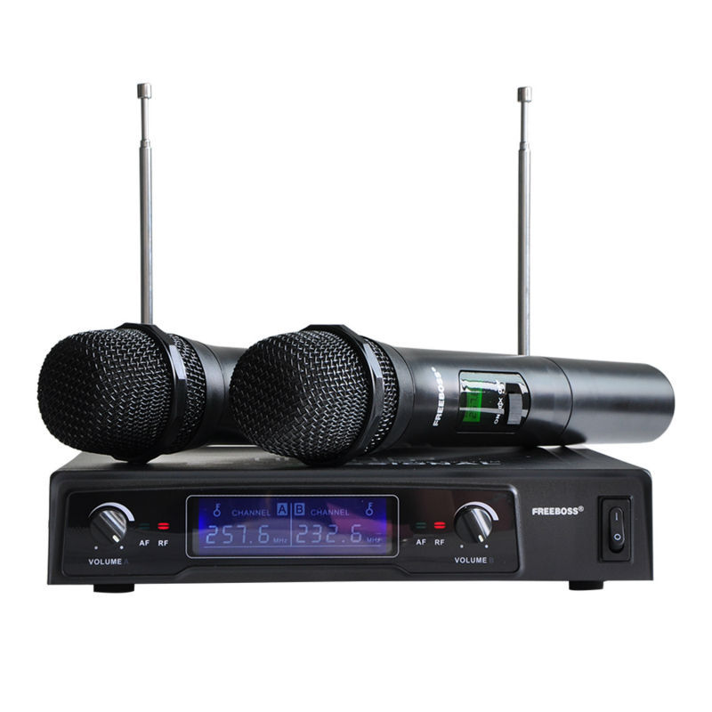 Freeboss SN-66R VHF 2 Handheld Wireless Microphone Dynamic Capsule Family Party Balanced+Unbalanced Output Wireless Microphone(China (Mainland))