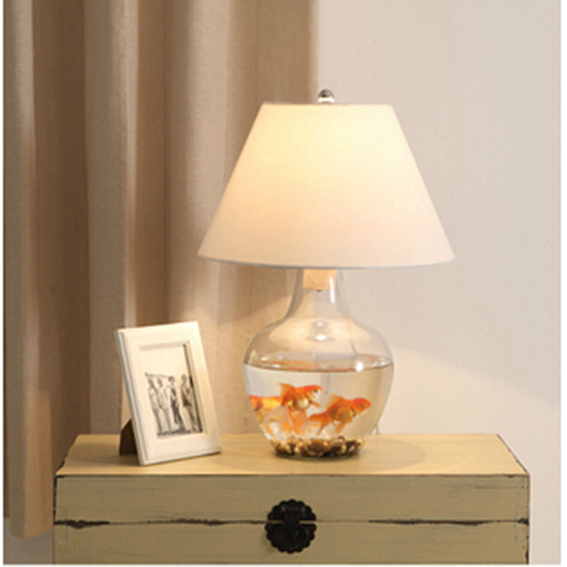 diy glass table lamps bedroom bedside lamp abajur sala desk lamp