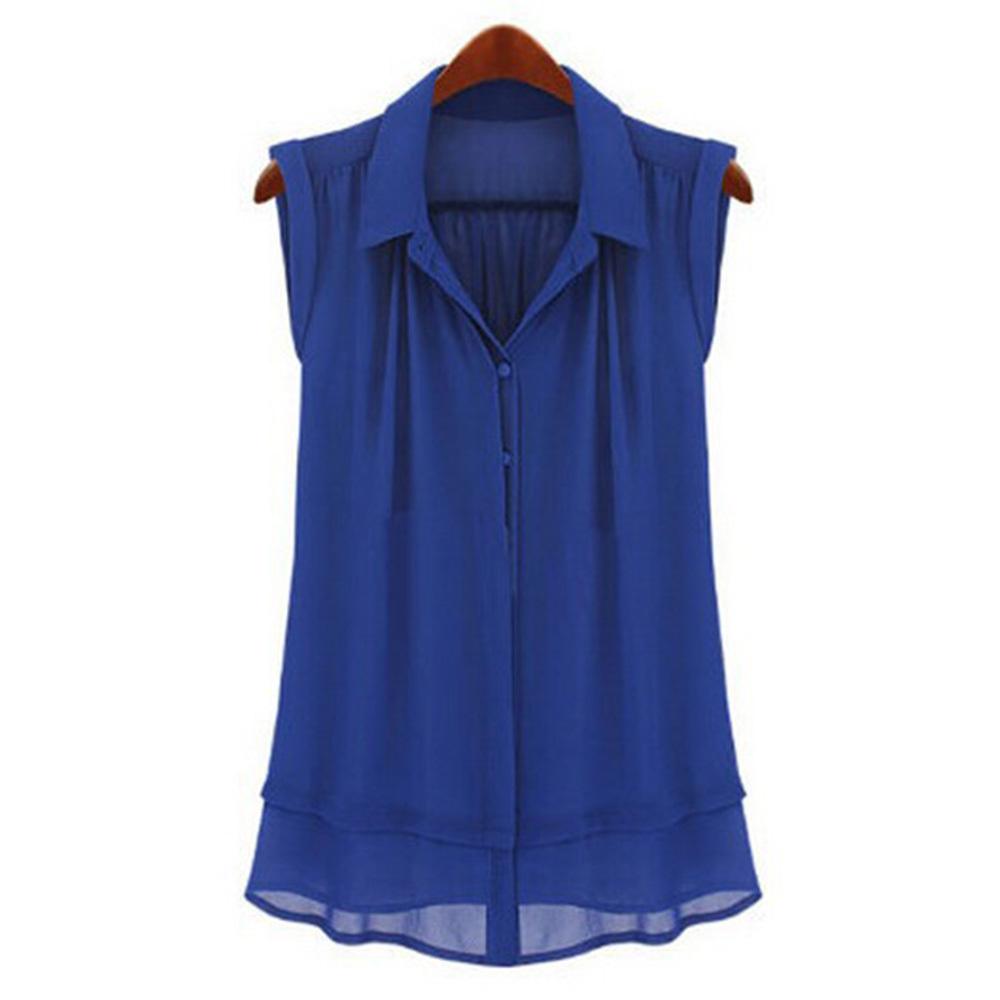 Блузка Из Шифона Без Рукавов