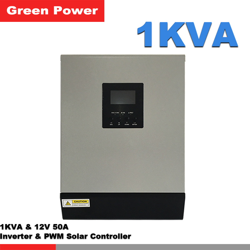 1KVA 12V50A Power inverter with PWM solar charge controller,LCD display for solar power system use(China (Mainland))