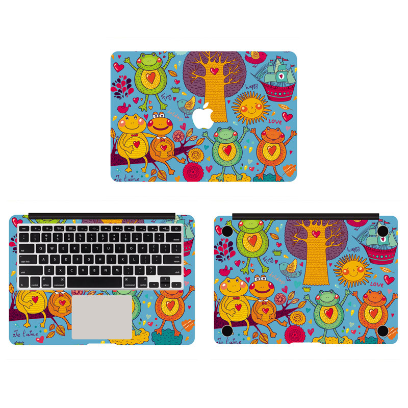 Frog World Full Body Laptop Decal Sticker For Apple Macbook Retina Air Pro 11 13 15 Inch Protective Cover Skin(China (Mainland))