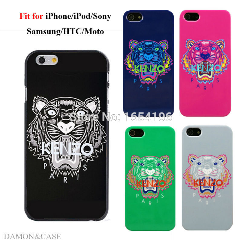 2015 New Cool Design KENZOE Tiger Cases For iPod 5 Covers For iPhone 4 4S 5S 5C 6 Plus For Samsung Galaxy S3 S4 S5 Mini S6 Edge(China (Mainland))
