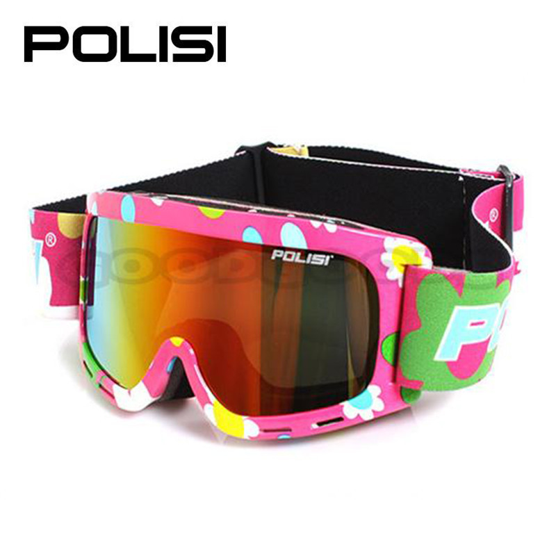 hot sale POLISI P815-PI Sled Skate Sporty UV400 Goggles Ski Snowboard Eyewear Anti-Fog ski eyewear Free Shipping(China (Mainland))
