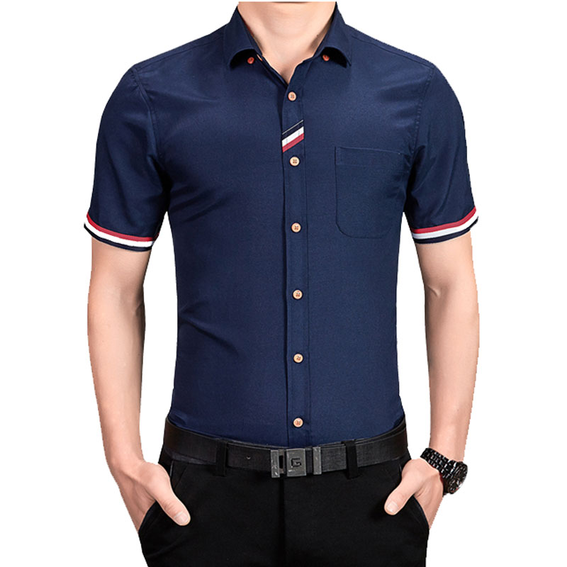 New Summer style Fashion Men Shirt Short Sleeve turn Collar Slim Shirt Cotton Mens Dress Shirts casual shirt Man Clothes M-5XL(China (Mainland))