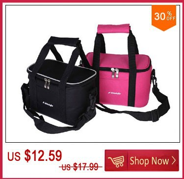 Insulated Lunch Bags Thermal Lunchbox Thickened Multi-functional Lunch box Розовый/Черный
