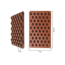 New Arrival High Quality Silicone 55 Cavity Mini Coffee Beans Chocolate Sugar Candy Mold Mould Cake Decor(China (Mainland))