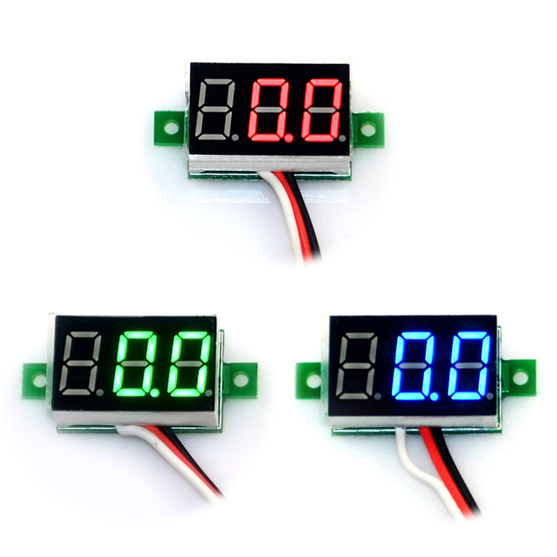 Mini Digital Voltmeter Panel Voltage Meter Tester 0.36inch Blue Red Green LED Display 0-10V DC ALI88(China (Mainland))
