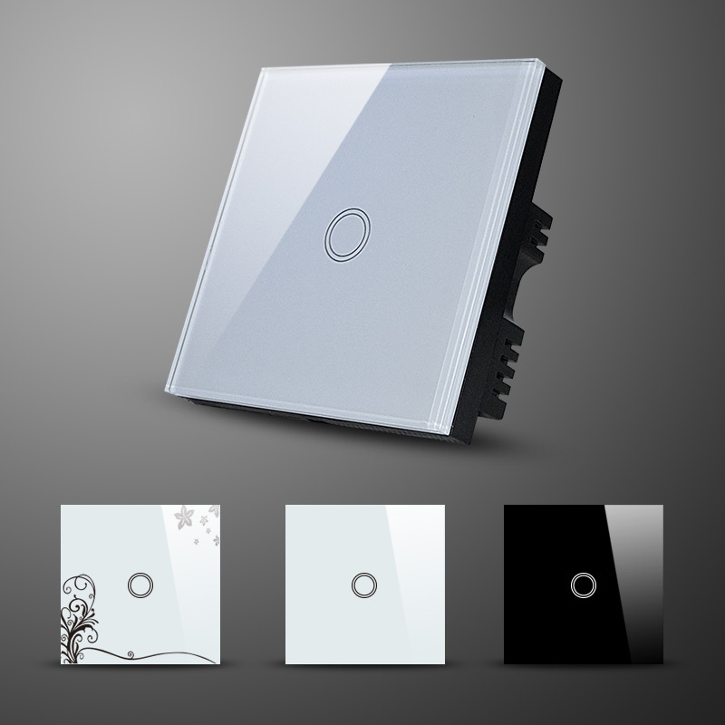 Home Automation Wifi Light Switch Crystal Glass Panel