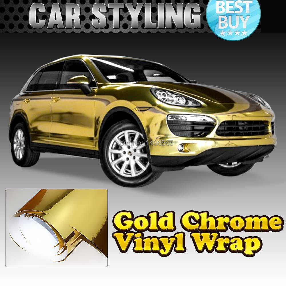 Gold Chrome Wrap Cost Gold Chrome Vinyl Wrap