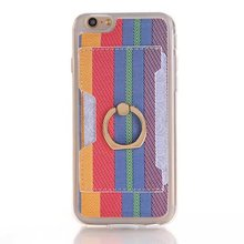 100pcs/lot Free shipping 4colours Ring Color fringes Mobile Phone Accessories case cover for iphone 6 6s plus 5.5″ covers