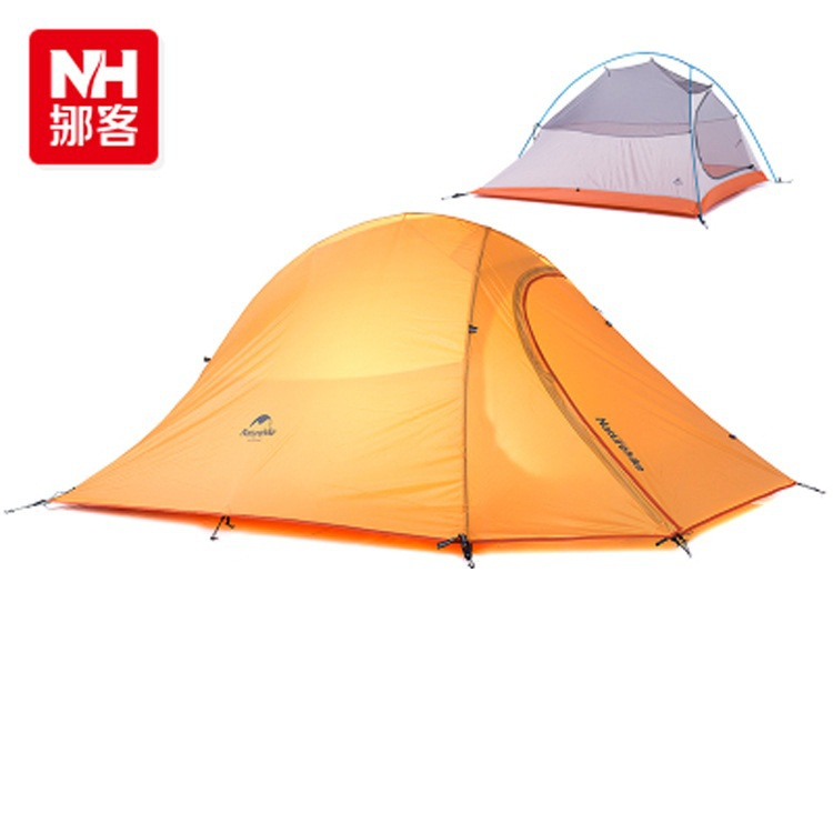 Фотография Free shipping ultralight  2 persons tent orange green double-layer high waterpoof camping outdoor tent naturehike