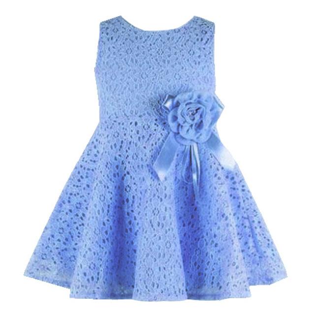 Новый танк девочка летнее платье в стиле девушки кружевном платье 2016 мода детская одежда без рукавов дети одеваются vestidos infantis