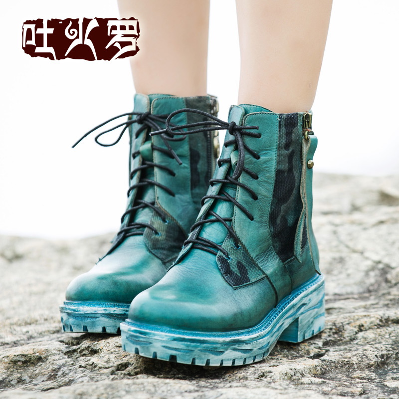 Original heavy-bottomed new winter boots leather casual, in boots with Martin boots<br><br>Aliexpress