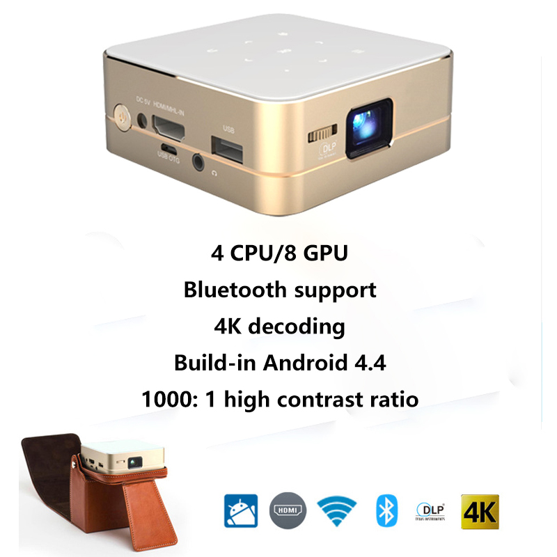Free Shipping!!HD DLP THEATER SYSTEM POCKET WiFi Mirror Display Mini DLP Projector Theater 2000 Lumens Audio Out(China (Mainland))