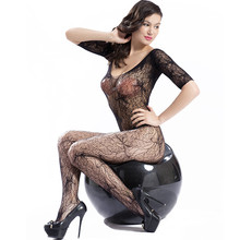 Hot Sale Black Women Sexy Pantyhose Open Crotch Nylon bodyStockings Crotchless Fishnet Sheer Body Dress Lingerie Seam Pantyhose