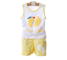 2015 New Summer Style Children Boys Girls Clothing set baby kids clothes family clothing cotton kid