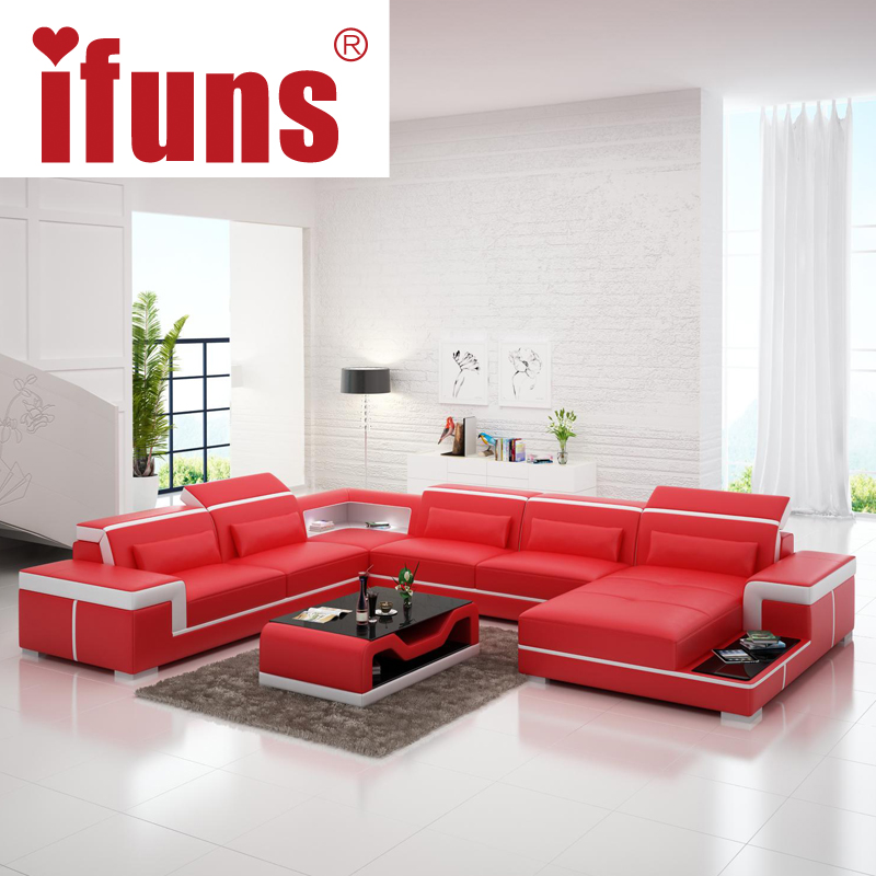 European latest designer sofa large size u shaped white for Unique couches living room furniture