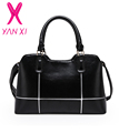 YANXI 2017 Hot Sale arrive 5 colors business solid handbags shoulder tote designer PU leather messenger