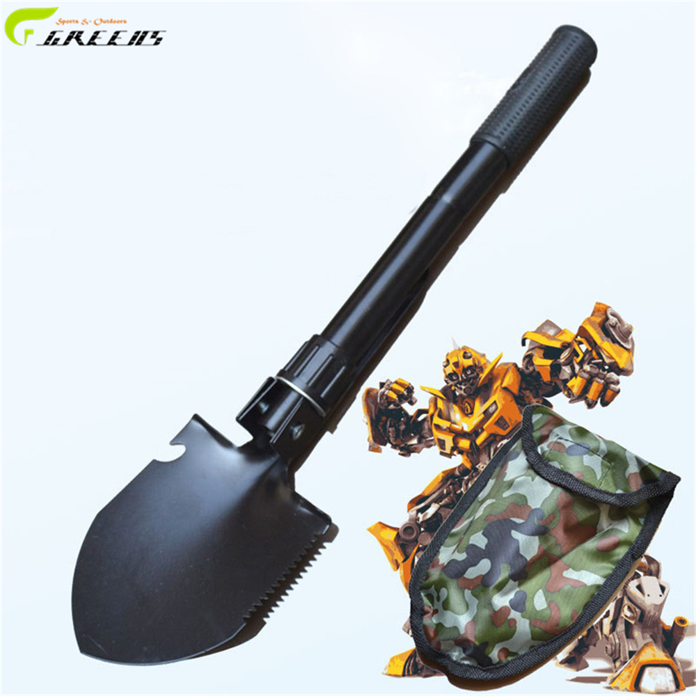 Multi-function Military Portable Folding Camping Hiking Shovel Survival Spade Trowel Dibble Pick Emergency Garden Outdoor Tool(China (Mainland))