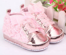 hot Baby Kid Girl Toddler Non-slip Soft Sole Crib Sneaker Shoes Prewalker Boots(China (Mainland))
