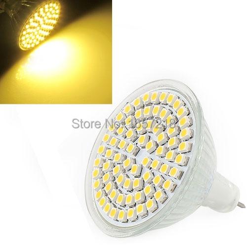 High quality MR16 Warm White 60 LED Energy Saving Spot Down Light Lamp Bulb 12V 5W Low Power Free Shipping #LRT15159#(China (Mainland))