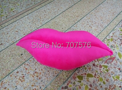 6 pcs/lot Crazy Low Freight ! Chair Cushion Plush Toy Sexy Red Lip Pillow Cloth Doll Gift Car Seat 28*53cm Pink/Red(China (Mainland))