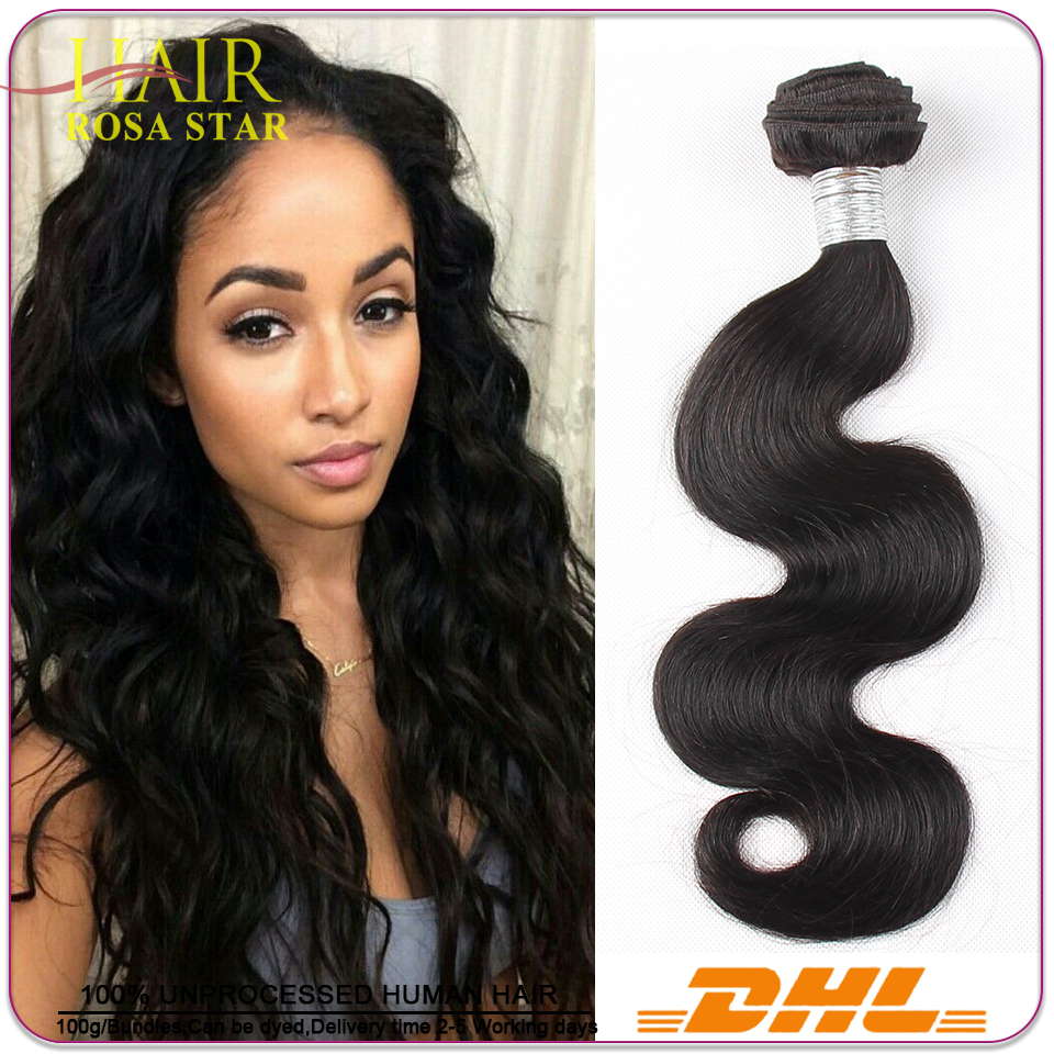 Beauty Rosa Indian Virgin Hair Body Wave 3pcs Natural Black Hair Extension 6A Unprocessed Indian Virgin Hair Weave Very Soft<br><br>Aliexpress