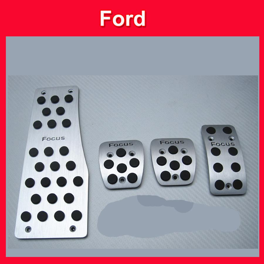 Stainless Steel Manual Transmission MT Pedal Footrest+Clutch+Brake+Gas Car Pedal For Ford Focus 2 Focus 3 Automatic pedals(China (Mainland))